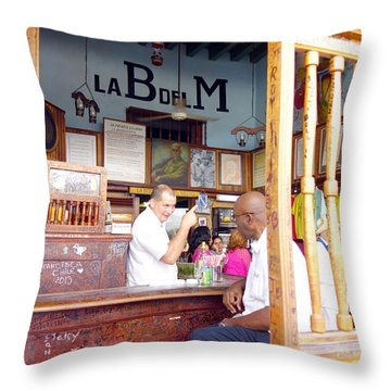 Inside La Bodeguita Del Medio Throw Pillow by Valentino Visentini