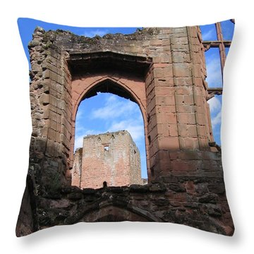 Inside Leicester's Building Throw Pillow