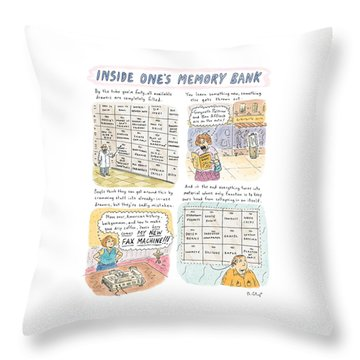 'inside One's Memory Bank' Throw Pillow