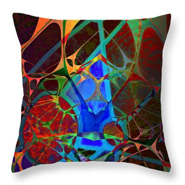 Inside Out Throw Pillow by Ally  White