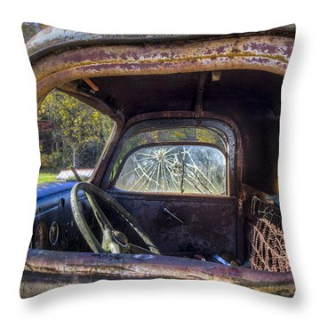Inside Out Throw Pillow by Debra and Dave Vanderlaan