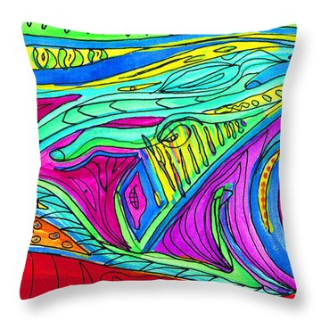 Inside Outside Throw Pillow