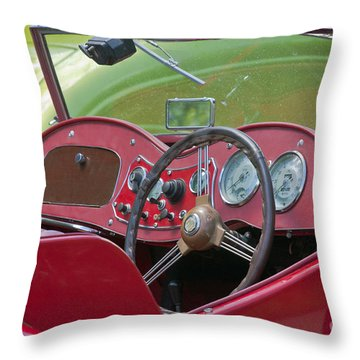 Red Mg-td Convertible  Throw Pillow by Terri Waters