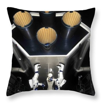 Inside Space Mountain Throw Pillow by David Lee Thompson