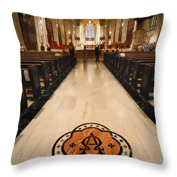 Inside St Patricks Cathedral New York City Throw Pillow by Amy Cicconi