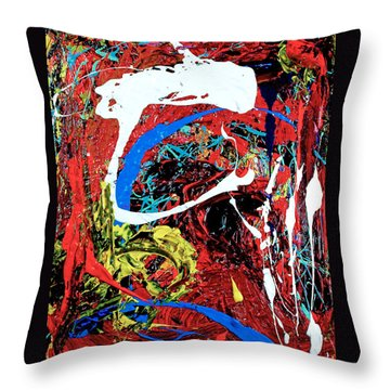 Inside The Big Fish Throw Pillow by Elf Evans