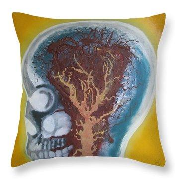 Inside The Brain Throw Pillow