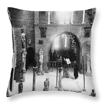 Inside The Cloisters Throw Pillow