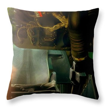 Inside The Cockpit Throw Pillow