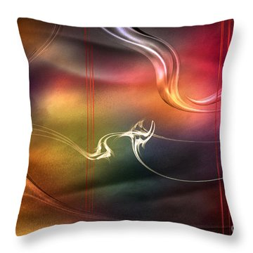 Throw Pillow featuring the digital art Inside The Color Symphony by Johnny Hildingsson