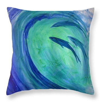 Inside The Curl Throw Pillow