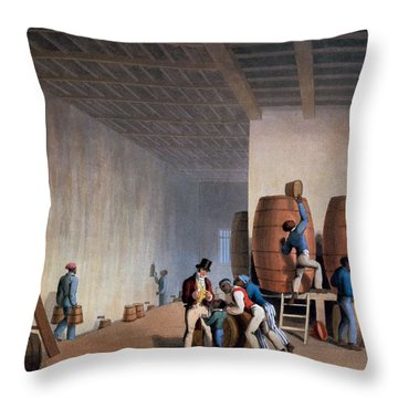 Inside The Distillery, From Ten Views Throw Pillow by William Clark