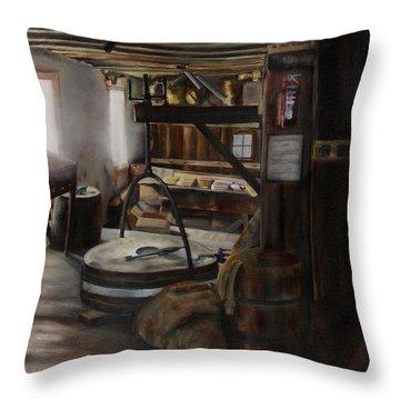 Inside The Flour Mill Throw Pillow
