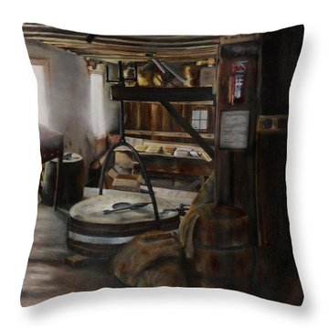 Inside The Flour Mill Throw Pillow