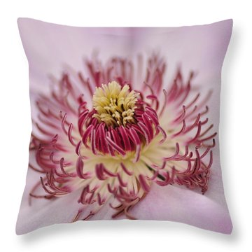 Inside The Flower Throw Pillow by Mike Martin