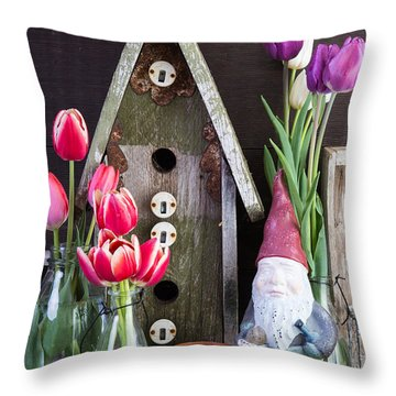 Inside The Garden Shed Throw Pillow by Edward Fielding