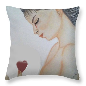 Inside The Glass Ball Painting By Saribelle Rodriguez Throw Pillow by Saribelle Rodriguez
