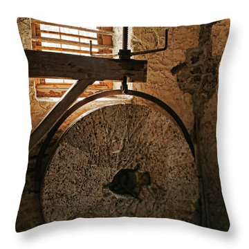 Inside The Gristmill Throw Pillow