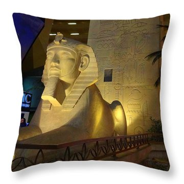 Inside The Luxor Throw Pillow