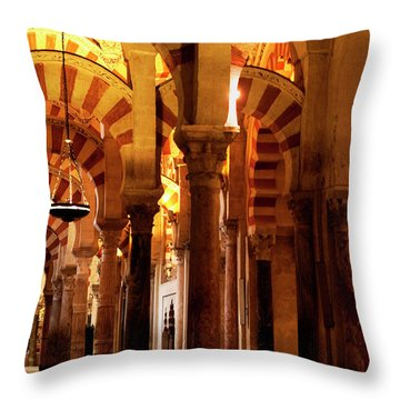 Inside The Mezquita Throw Pillow