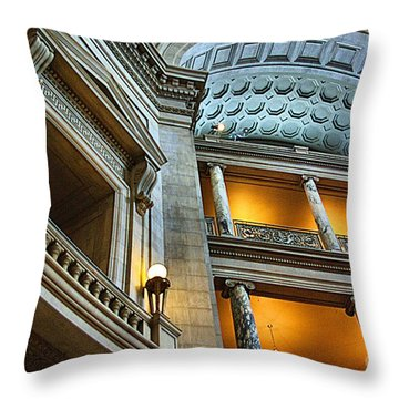 Throw Pillow featuring the photograph Inside The Natural History Museum  by John S