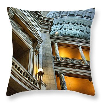 Inside The Natural History Museum  Throw Pillow