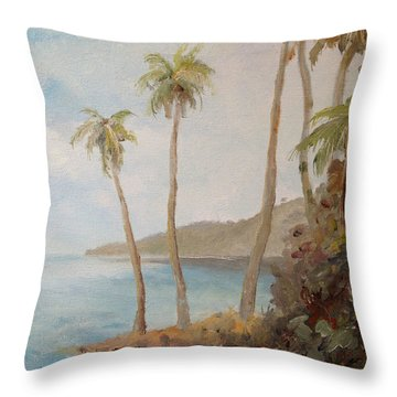 Inside The Reef Throw Pillow by Alan Lakin