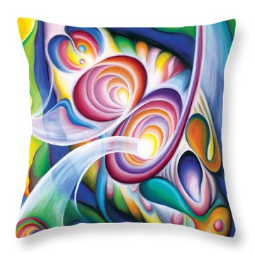 Inside The Revelry Divine Throw Pillow by Tiffany Davis-Rustam