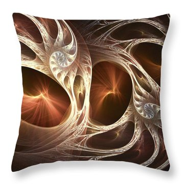 Inside The Shell Throw Pillow by Anastasiya Malakhova