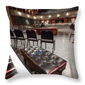 Throw Pillow featuring the photograph Inside Theater by Alex Grichenko