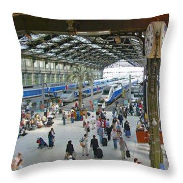 Inside Train Station, Nice, France Throw Pillow