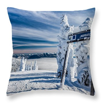Inspiration Throw Pillow by Aaron Aldrich