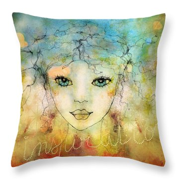 Throw Pillow featuring the digital art Inspiration by Barbara Orenya