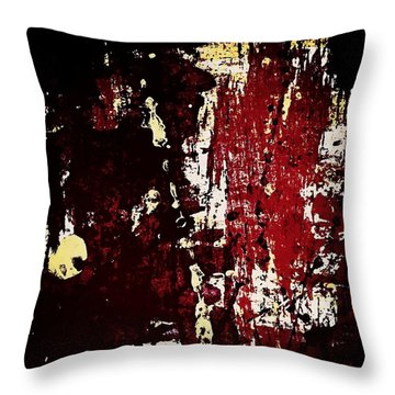Abstract In Burgundy Throw Pillow