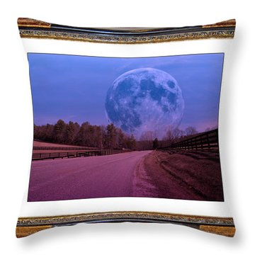 Inspiration In The Night Throw Pillow by Betsy Knapp