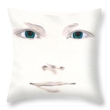Throw Pillow featuring the drawing Inspiration by Stephanie Grant