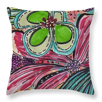 Inspirational Flower Art Throw Pillow
