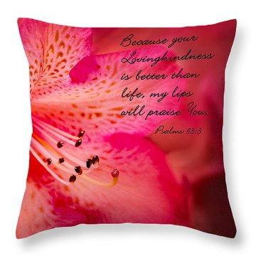 Inspirational Rhododendron Throw Pillow