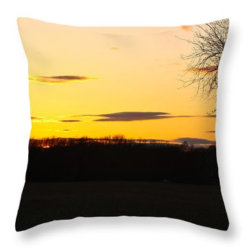 Inspirational Sunset  Throw Pillow by Ann Murphy