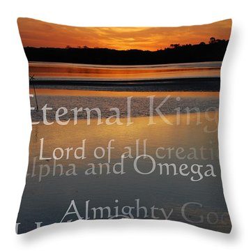 Inspirational Sunset Throw Pillow