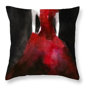 Inspired By Alexander Mcqueen Fashion Illustration Art Print Throw Pillow by Beverly Brown