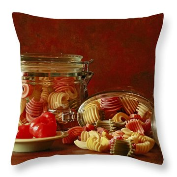 Inspired By Pasta Throw Pillow by Inspired Nature Photography Fine Art Photography