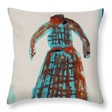 Inspired By Vuillard Throw Pillow by Mary Carol Williams