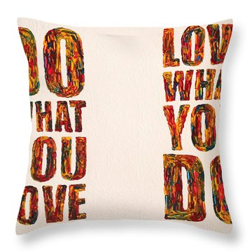 Inspiring Palette Knife Acrylic Throw Pillow