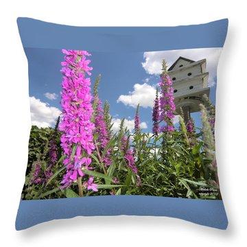 Inspiring Peace - Signed Throw Pillow