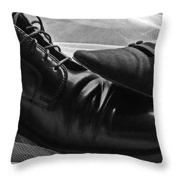 Throw Pillow featuring the photograph Instep by Lisa Phillips