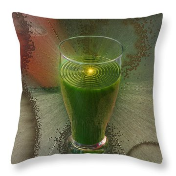 Intense Juicing Throw Pillow