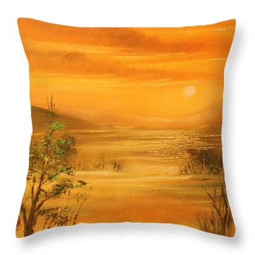 Intense Orange Throw Pillow