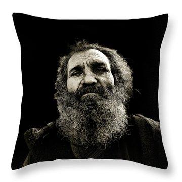 Intense Portrait Throw Pillow