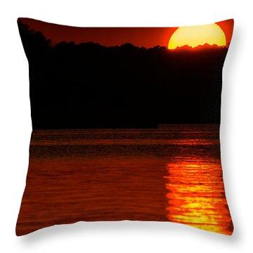 Intense Sunset Throw Pillow